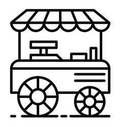 Burger shop cart icon outline style vector