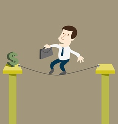 Business man to risk for money vector