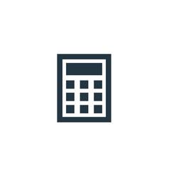 calculator icon simple element vector image
