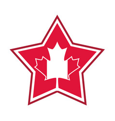 canada day canadian flag maple leaf in star vector image