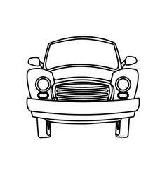 Cartoon car transport travel empty vector
