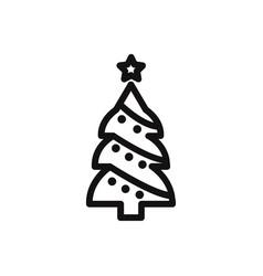christmas tree icon winterxmas symbol flat sign vector image