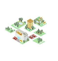 city landscape environment elements vector image