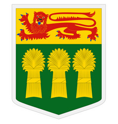 Coat arms saskatchewan in canada vector