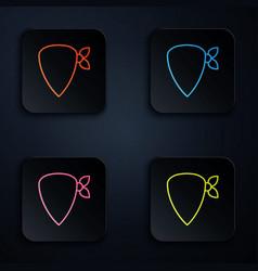 Color neon line cowboy bandana icon isolated on vector