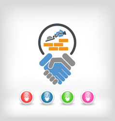 construction agreement vector image