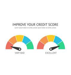 Credit score scale concept flat vector