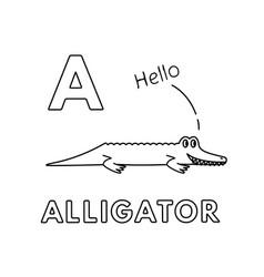 cute cartoon animals alphabet alligator vector image