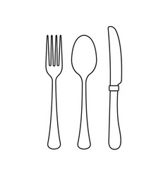 cutlery on a transparent background fork knife vector image