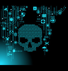 cyber attack background vector image