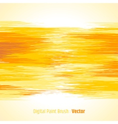 Digital paint background yellow vector image