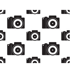 Dslr camera seamless vector