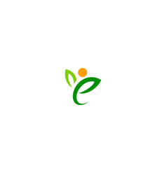 eco green leaf abstract people logo vector image