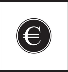 euro curency euro icon in trendy flat style vector image