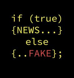 Fake news concept design vector