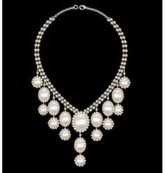 Female necklace wedding vector