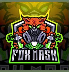 Fox mask esport mascot logo design vector