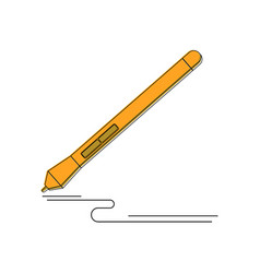 Graphic design instrument stylus pen for graphic vector