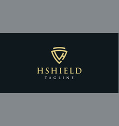 h shield logo design inspirtion vector image