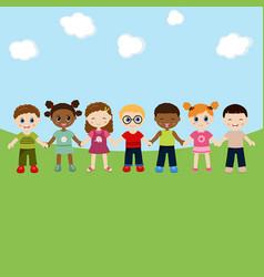 happy children concept happy children concept vector image