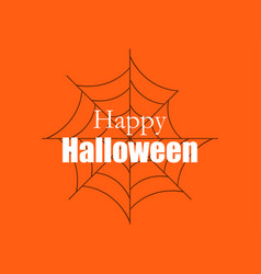 Happy halloween background with spider web vector