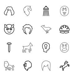 head icons vector image