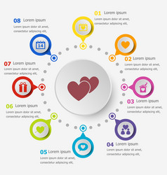 infographic template with love icons vector image