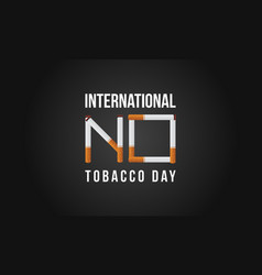 International no tobacco day background style vector