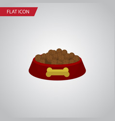 isolated hound eating flat icon dog food vector image