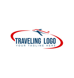 logo design for tour and travel vector image