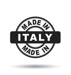 Made in italy black stamp on white background vector