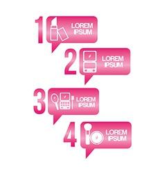 Make up infographics vector