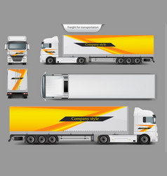 Mock up template brand design for truck vector