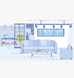 Modern apartments comfortable interior flat vector