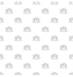 monkey bathe pattern seamless vector image