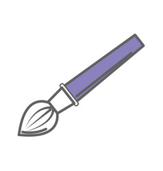 paint art brush tool design vector image