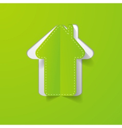 paper house green vector image