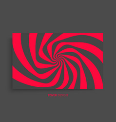 pattern with optical red black design vector image