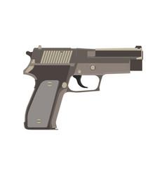 pistol gun vintage western white handgun weapon vector image