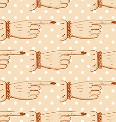 Pointing fingers seamless pattern vector