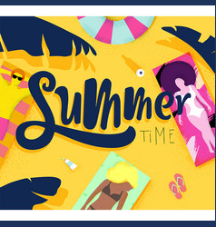 Poster summer time vector