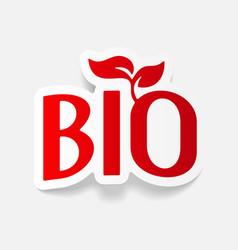 Realistic design element bio sign vector