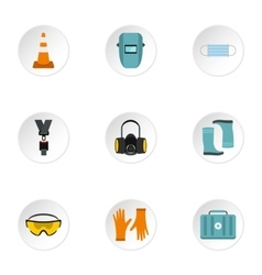 Repairs icons set flat style vector