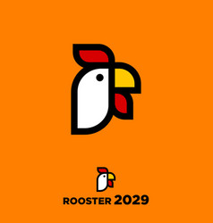 rooster year rooster emblem vector image