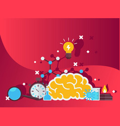 science research composition vector image