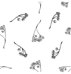 seamless pattern with black and white ardisia vector image
