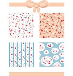 Set of Vintage Valentine Patterns vector image