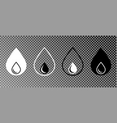 set of water drop icon water icons vector image