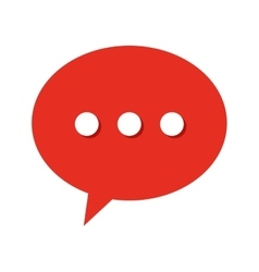 speech bubble isolated icon design vector image