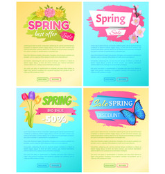 spring big sale discount new offer premium posters vector image